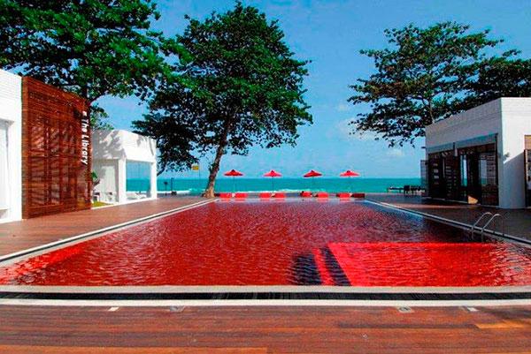 piscina de color