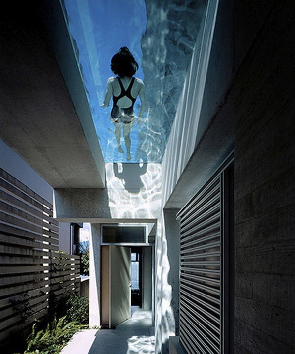nadar en un tejado