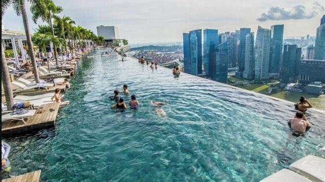 piscinas en rascacielos