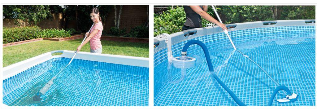Limpieza de paredes y fondo piscina