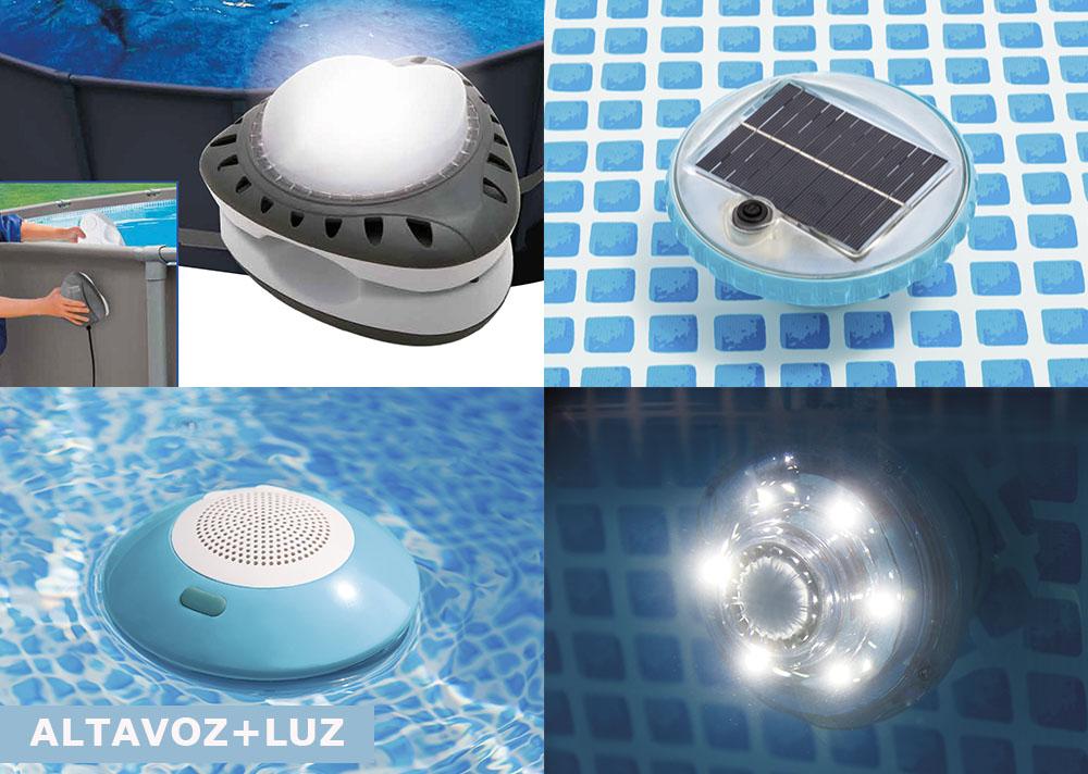 luz piscina