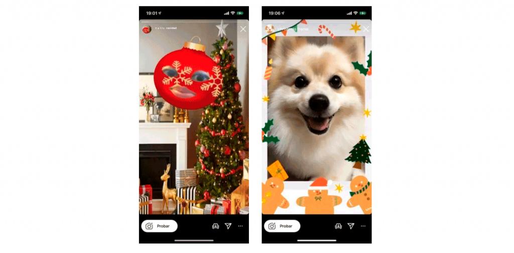filtros instagram navidad