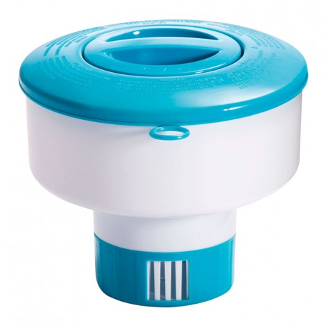 dispensador químico intex para piscinas y spas. medida: 17,8 cm diámetro