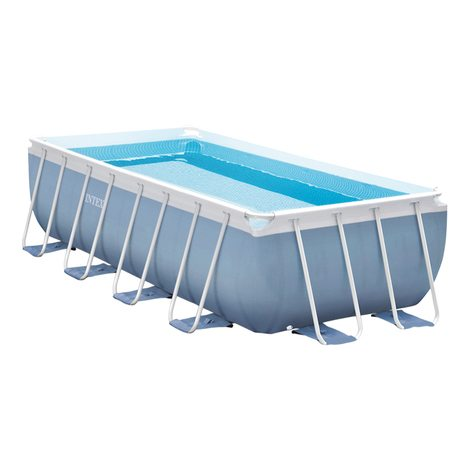 piscina desmontable rectangular intex - prisma frame - 488x244x107 cm - 10.874 litros