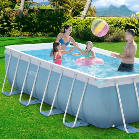 Piscina desmontable 400x200x100 cm intex 28350 for Piscina intex cuadrada