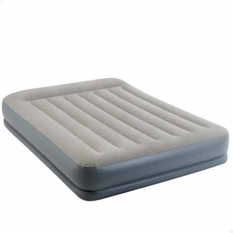 colchón hinchable intex -  dura-beam standard, pillow rest midrise - 152x203x30 cm