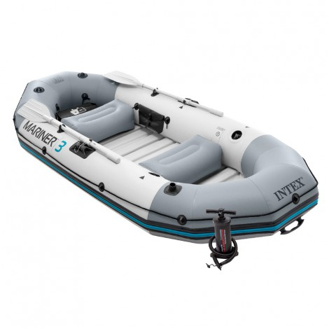 barca hinchable intex mariner 3 & remos 137 cm-297x127x46 cm