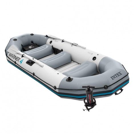 barca hinchable intex mariner 4 & remos 137 cm-328x145x48 cm