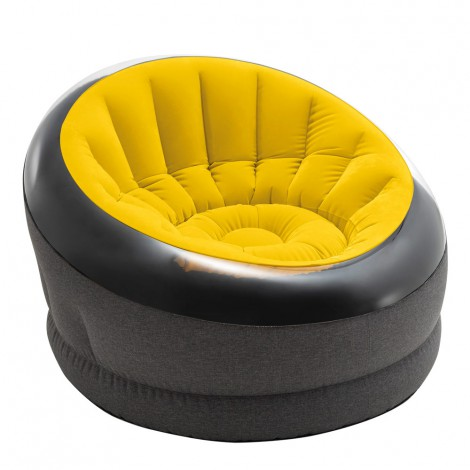 sillón puff hinchable empire amarillo