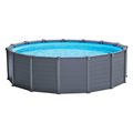 26382NP - PISCINA GRAPHITE GREY PANEL  D478X124 CM (W/BOMBA